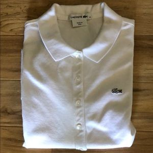 Lacoste women's 5 button polo
